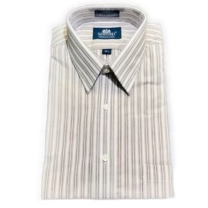 Stafford Striped Short Sleeve Regular Dress Shirt